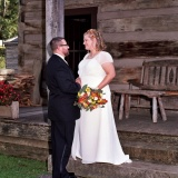 8x10 cabin porch bride and groom