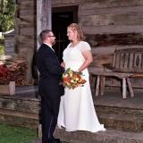 8x10 cabin porch bride and groom